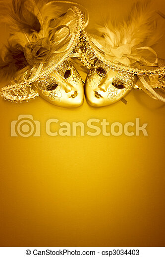 Golden carnival background - csp3034403