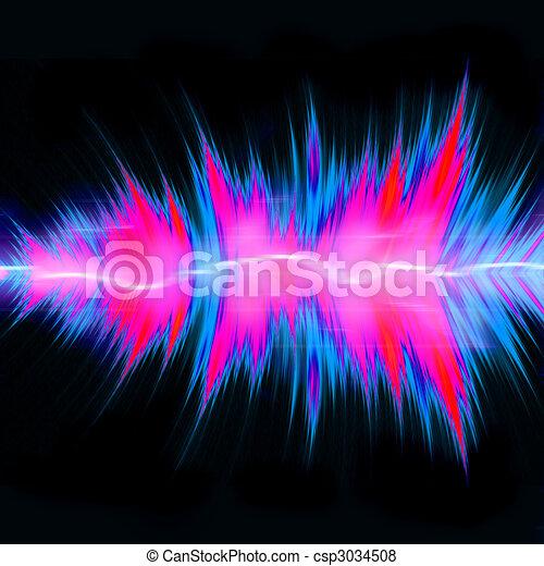 Powerful Audio Waves - csp3034508