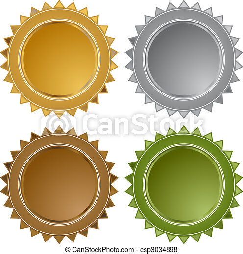 Metal Star Seals - csp3034898