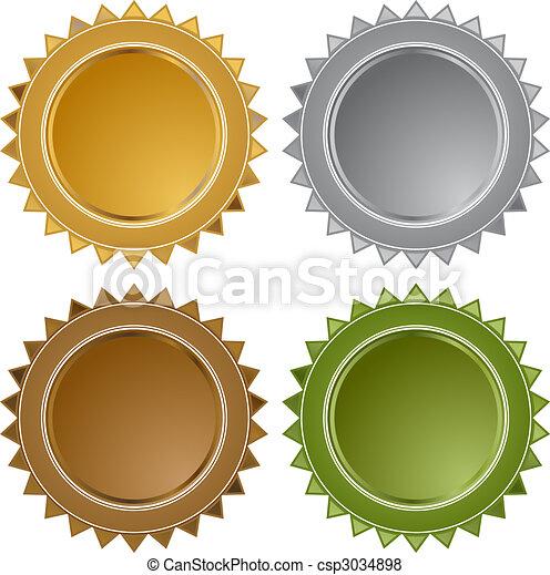 Metal Star Seals - csp3034898