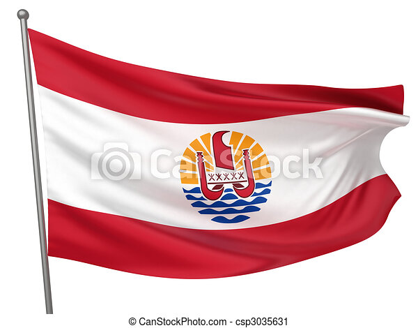 French Polynesia National Flag - csp3035631