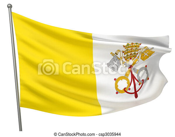 Vatican City (Holy See) Flag - csp3035944