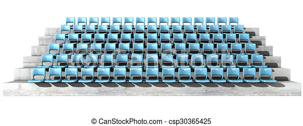 Clip Art of Numbered Stadium Seats - A section of numbered stadium ...