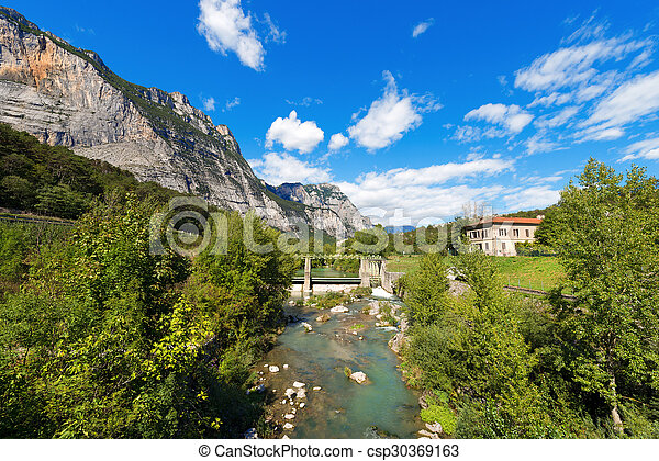 Sarca River - Trentino Italy - csp30369163