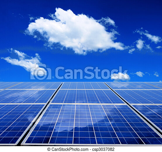 Energie, sonnenkollektoren, Tafel - csp3037082