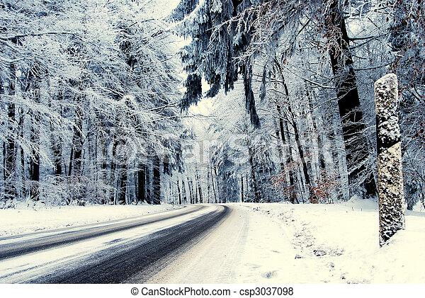 Winter road - csp3037098