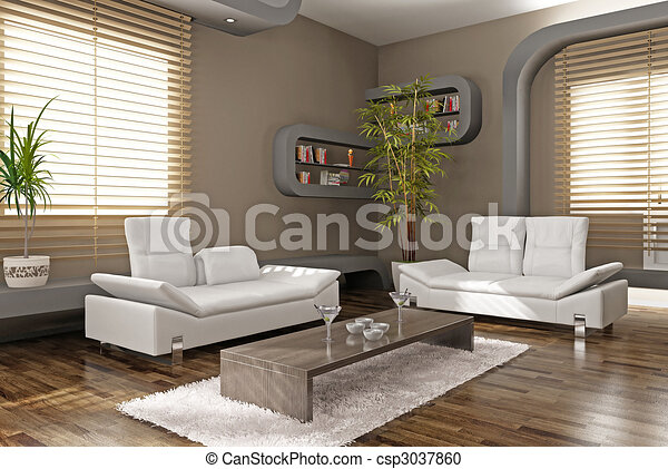modern apartment - csp3037860