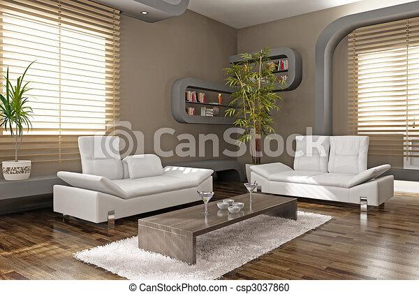modern apartment - csp3037860