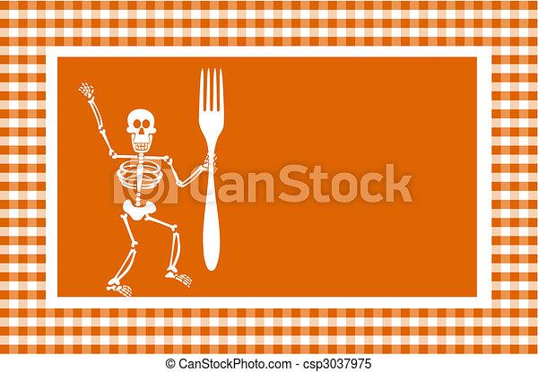 dia das bruxas, esqueleto, fundo - csp3037975