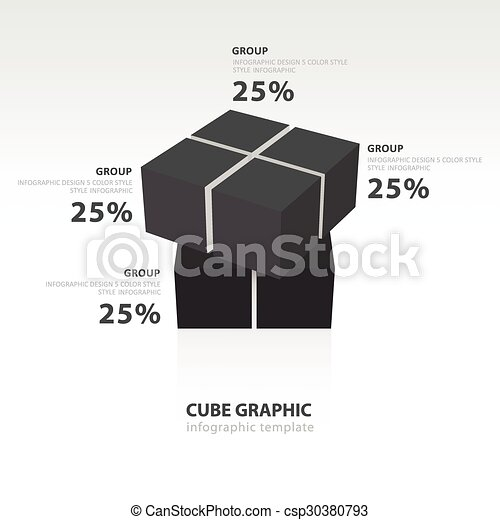 line balancing template - eps vectors of swivel cube infographic template black