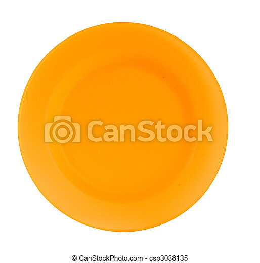 orange reusable tableware - csp3038135