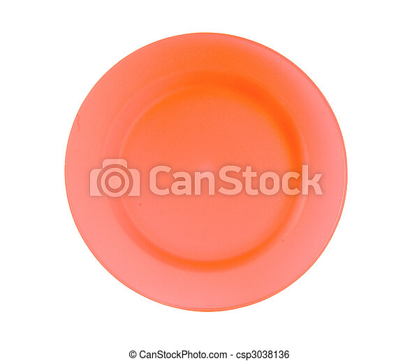red reusable plastic plate - csp3038136
