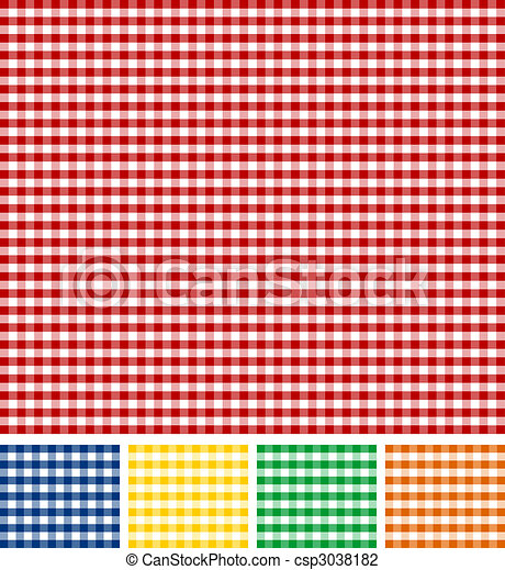 Picnic Tablecloth Texture - csp3038182