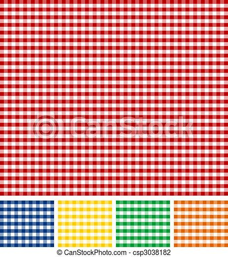 Picnic Tablecloth Texture - csp3038182
