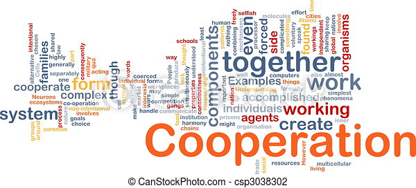 Cooperation management background concept - csp3038302
