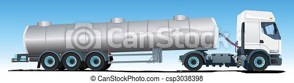 Tanker semi-trailer Truck - csp3038398