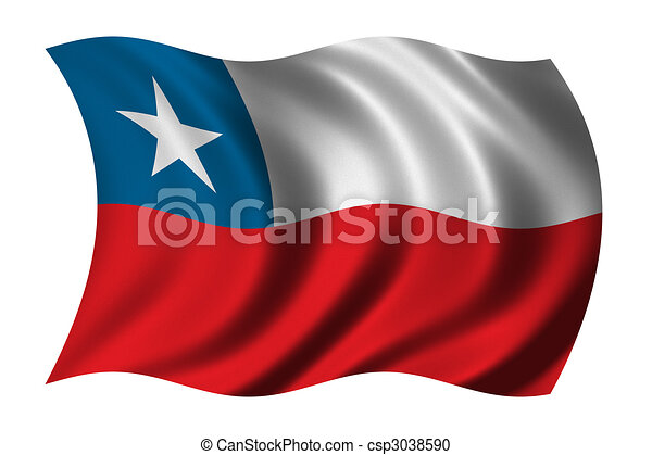 Flag of Chile - csp3038590