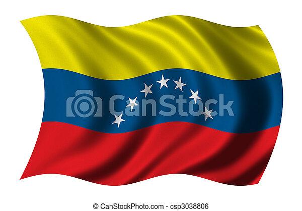 Fahne,  venezuela - csp3038806