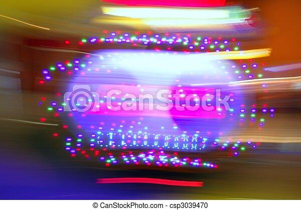 Gambling casino motion blur colorful lights - csp3039470