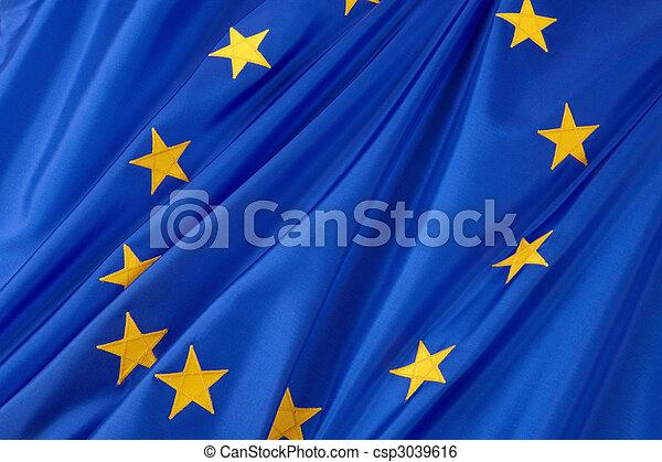 Gewerkschaft, Fahne, europäische - csp3039616