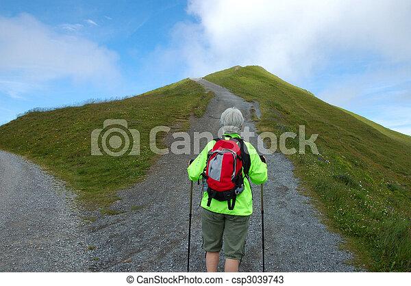 Hiker Alone - csp3039743