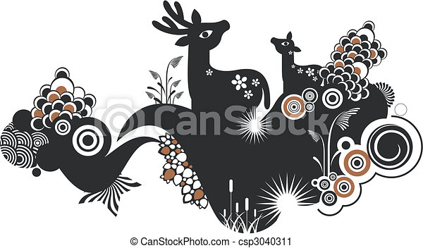 animals background - csp3040311