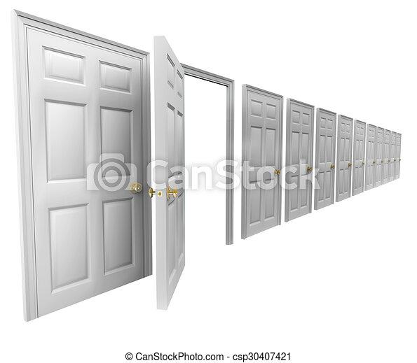 Closed Door Drawing clip art of one open door many doorways closed leave escape plan