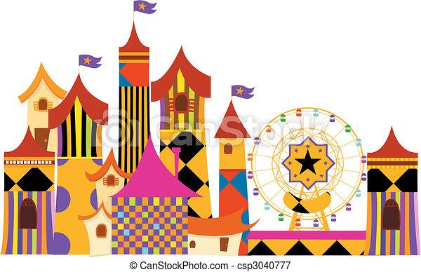 Clip Art Amusement Park Clipart amusement park clip art vector graphics 6312 eps parks vectors illustrationby