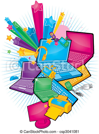 Vector Clip Art of electronic products - electronic products ...
