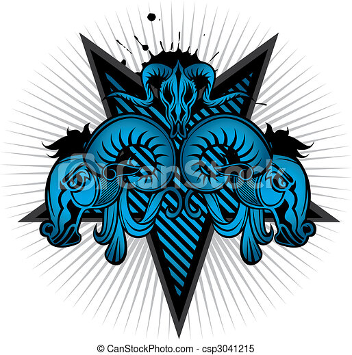 goat head shield pattern - csp3041215