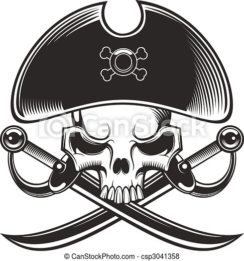 pirate skull - csp3041358