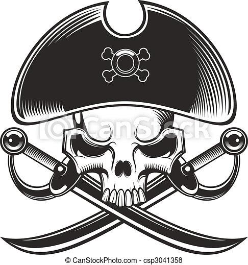 pirate skull - csp3041358