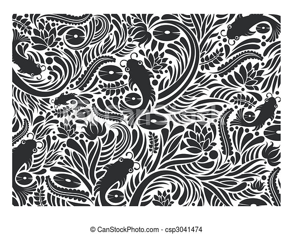 eps vector of fish texture black and white fish pattern sea creatures clip art free sea creatures clip art black and white