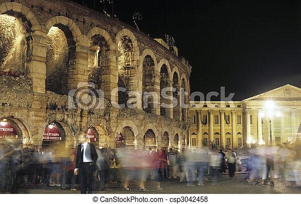 Arena di Verona by night. Verona, Italy - csp3042458