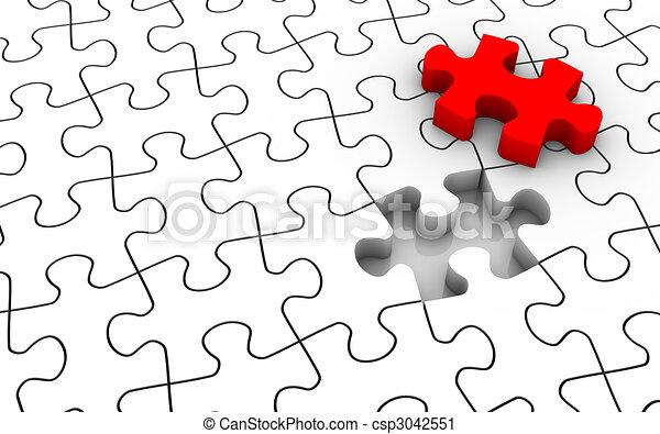 Jigsaw Puzzle Last Piece - csp3042551