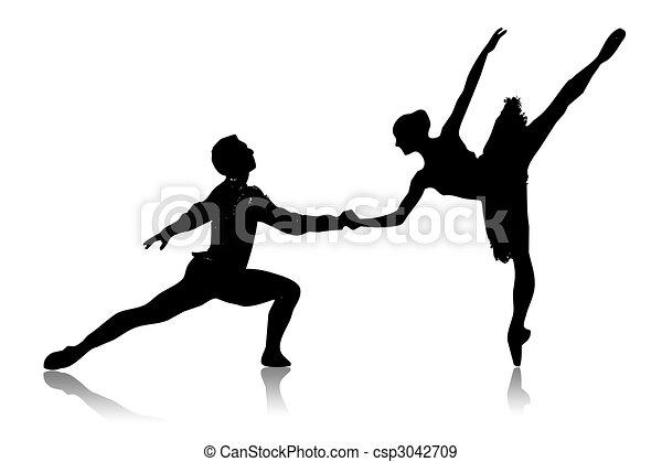 illustration de danses black silhouette de danse couple sur a fond csp3042709. Black Bedroom Furniture Sets. Home Design Ideas