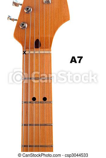 A7 Guitar Chord Diagram - csp3044533