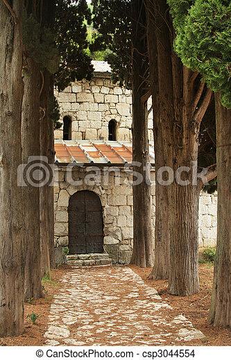 way to the church - csp3044554