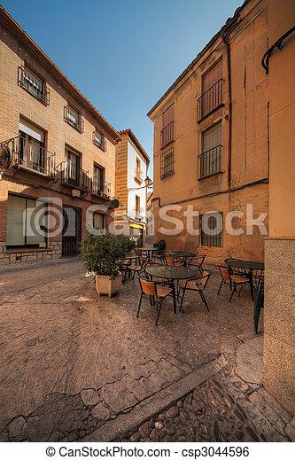 street restaurant in Toledo, Spain - csp3044596