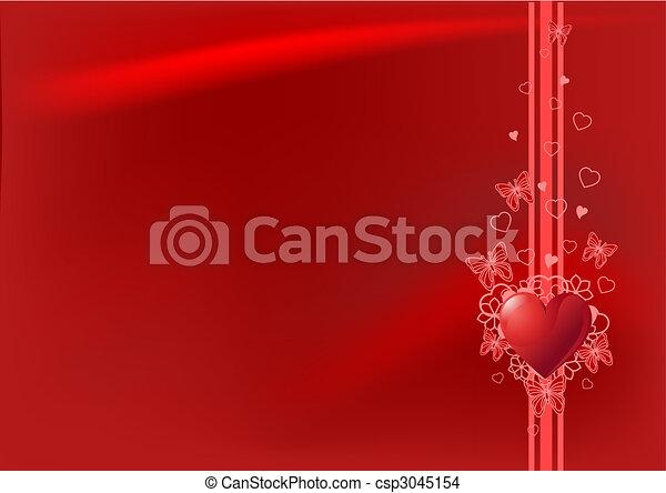 Red Valentine's day background - csp3045154