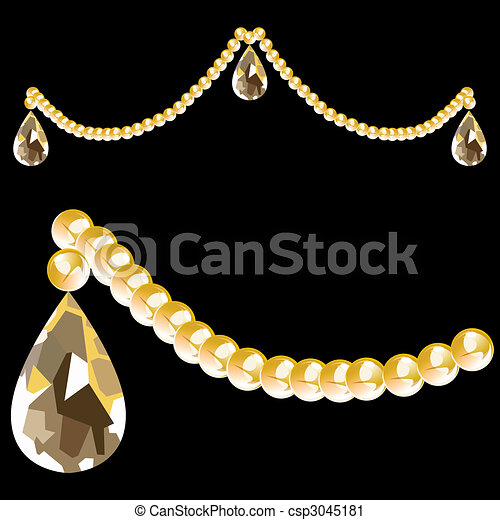 Crystal Beads and Teardrop - csp3045181
