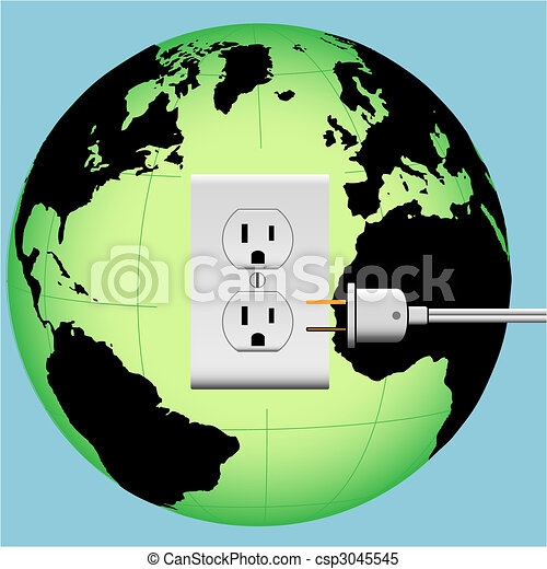 ENERGIZE EARTH electric plug in outlet Energy Globe - csp3045545