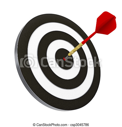 Dart and Dartboard - csp3045786