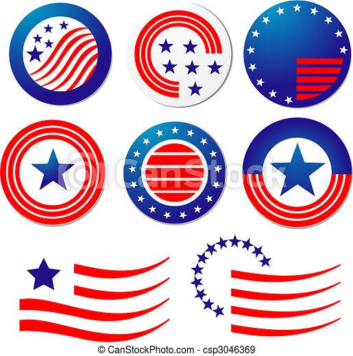American patriotic symbols - csp3046369