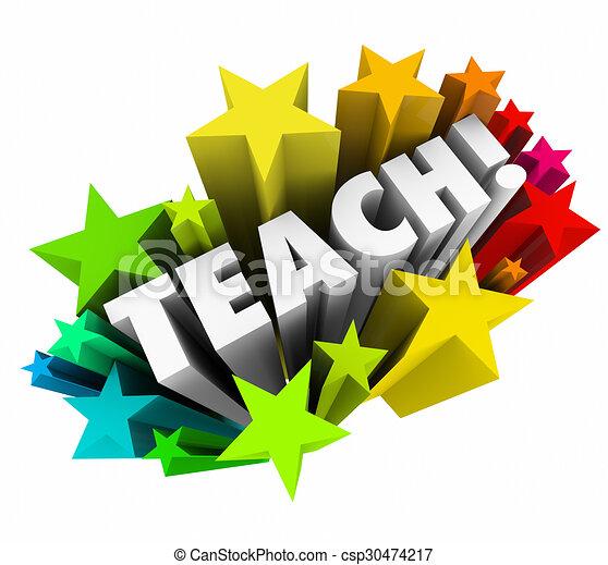 Clipart of Teach Word Stars Learning Education School ...