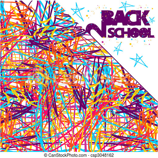 Back to school background - csp3048162