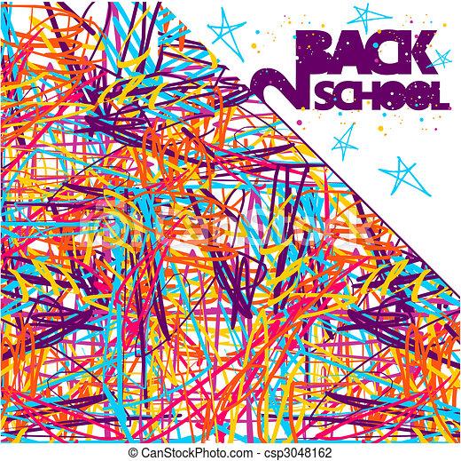 Back to school background - csp3048162