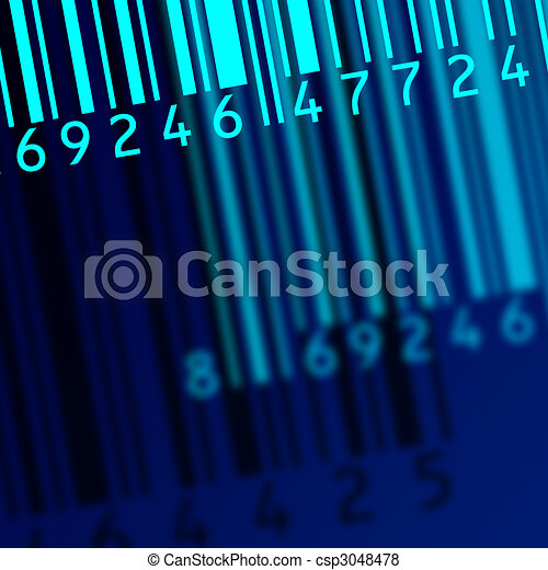 code bar barcode - csp3048478