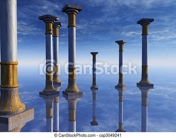 Surreal Columns on Horizon - csp3049241