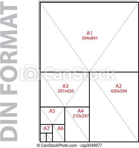 Format din iso - csp3049977